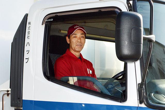 写真 弊社ドライブスタッフ 浅田 正仁さん(4t冷蔵PG車両乗務)